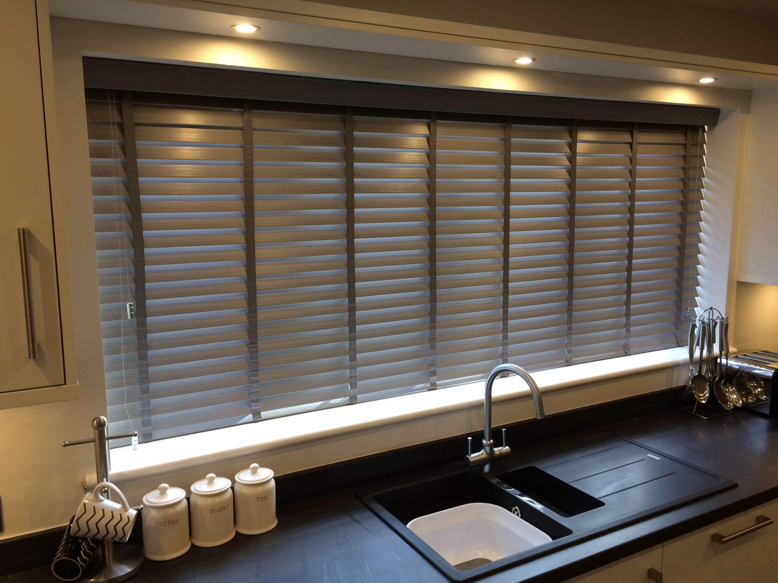 recessed kitchen blinds